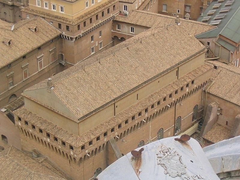 La Cappella Sistina vista dall'alto