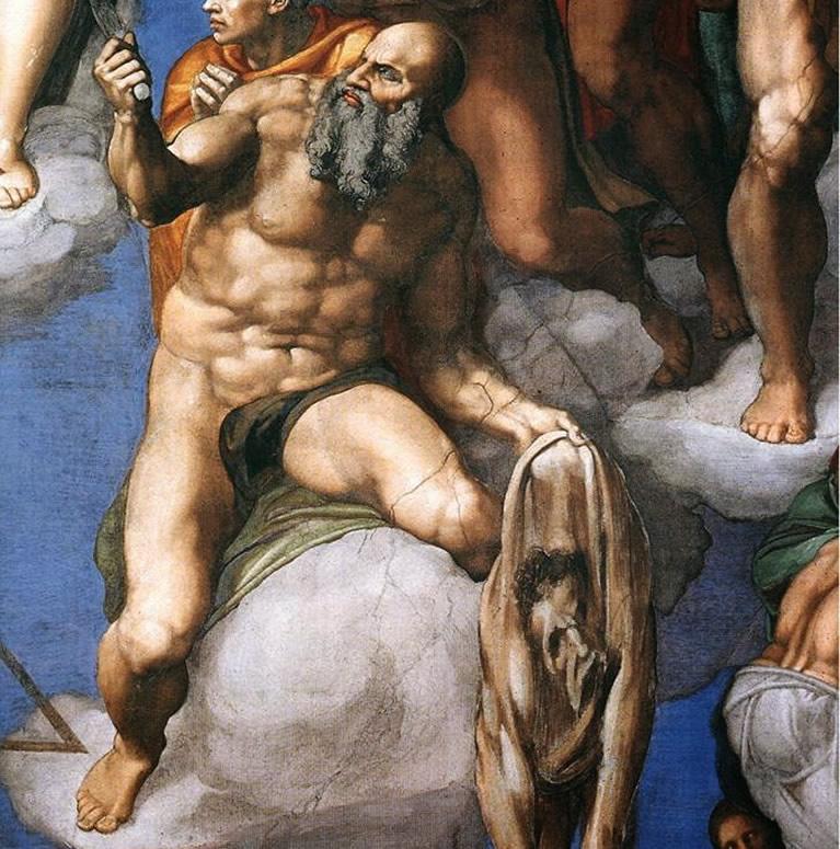 Un dettaglio del Giudizio Universale censurato da Daniele da Volterra