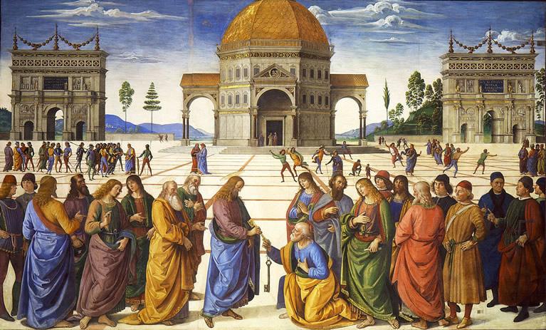 L'opera di Perugino, Consegna delle chiavi
