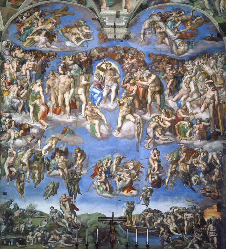 Il Giudizio Universale affrescato da Michelangelo