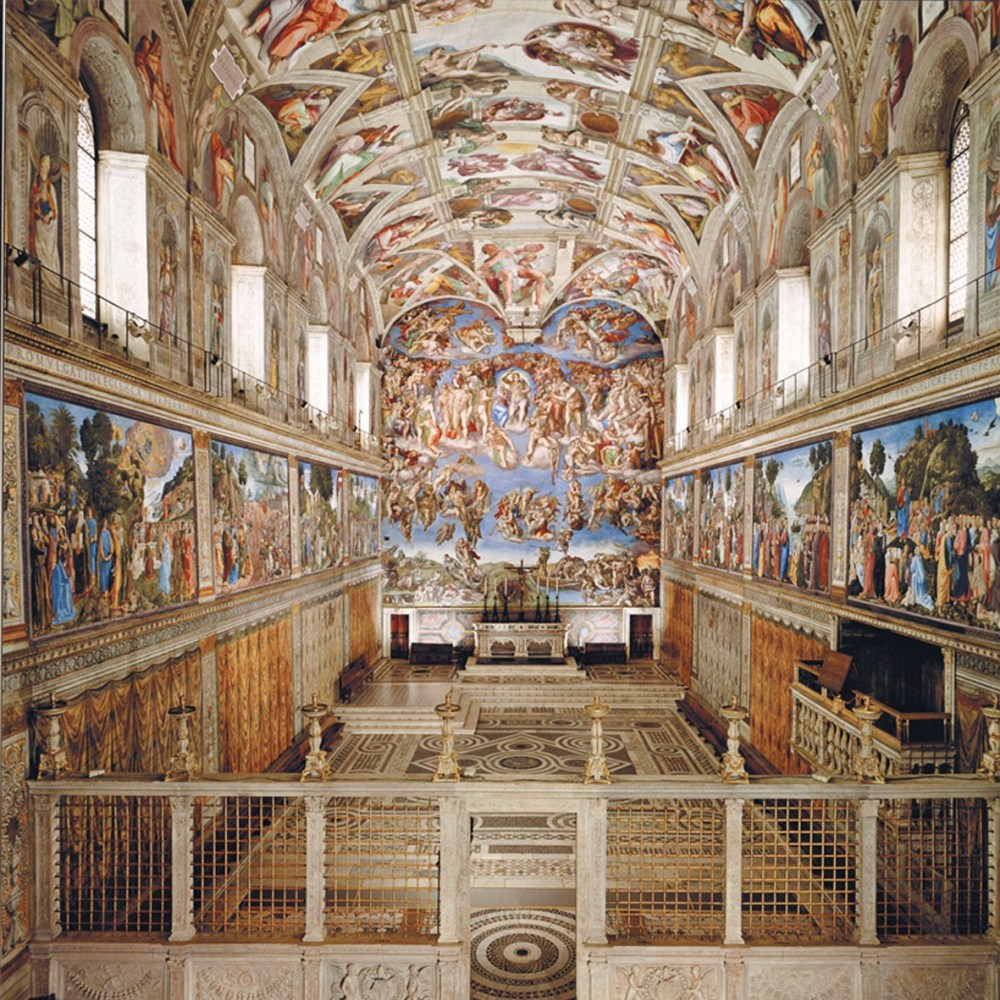 La Volta della Cappella Sistina affrescata da Michelangelo