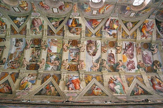 La Volta della Cappella Sistina dipinta da Michelangelo